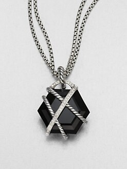 David Yurman - Black Onyx & Diamond Wrapped Enhancer