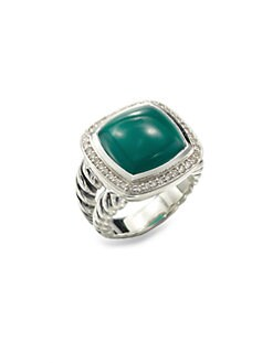 David Yurman - Green Onyx Sterling Silver Ring