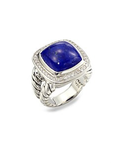 David Yurman - Lapis & Diamond Ring