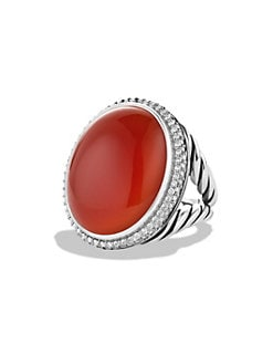 David Yurman - Carnelian & Diamond Ring