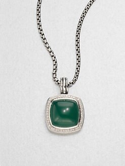 David Yurman - Green Onyx & Diamond Enhancer