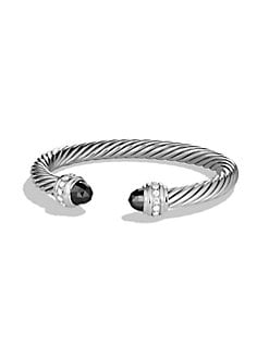 David Yurman - Carnelian Sterling Silver Bangle Bracelet