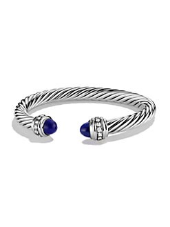 David Yurman - Lapis Sterling Silver Bangle Bracelet