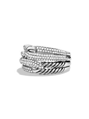 DAVID YURMAN | Labyrinth Double-Loop Ring With Diamonds | Goxip