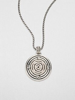 David Yurman - Diamond & Sterling Silver Disc Pendant