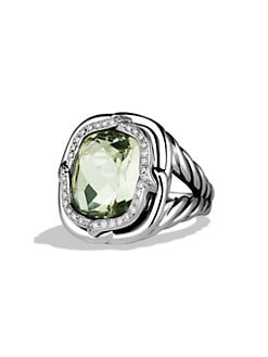 David Yurman - Prasiolite & Diamond Sterling Silver Ring