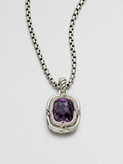 David Yurman - Diamond & Sterling Silver Enhancer/Amethyst