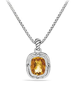 David Yurman - Diamond & Sterling Silver Enhancer/Citrine