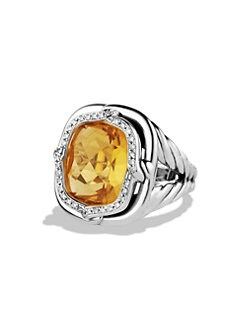 David Yurman - Citrine & Diamond Sterling Silver Ring