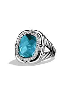 David Yurman - Diamond & Sterling Silver Ring/Blue Topaz
