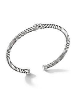 David Yurman - Pavé Diamond & Sterling Silver Cuff Bracelet