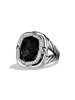 David Yurman - Black Onyx, Diamond and Sterling Silver Ring