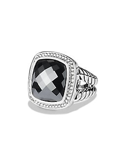 David Yurman - Blue Topaz, Diamond & Sterling Silver Ring