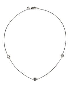 David Yurman - Diamond & Sterling Silver Station Necklace