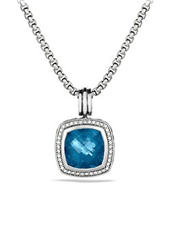 David Yurman - Blue Topaz & Diamond Sterling Silver Enhancer