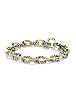 David Yurman - 18K Gold & Sterling Silver Link Bracelet