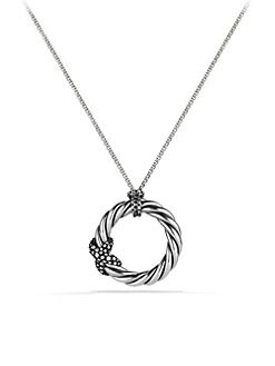 David Yurman - Diamond and Sterling Silver Necklace