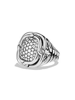 David Yurman - Diamond & Sterling Silver Ring