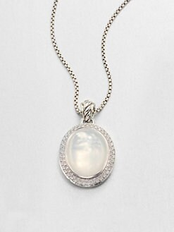 David Yurman - Moon Quartz, Diamond & Sterling Silver Enhancer