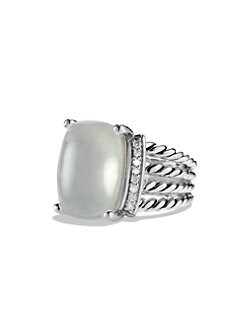 David Yurman - Diamond, Moon Quartz and Sterling Silver Ring