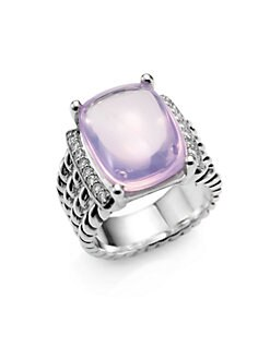 David Yurman - Lavender Moon Quartz, Diamond & Sterling Silver Ring