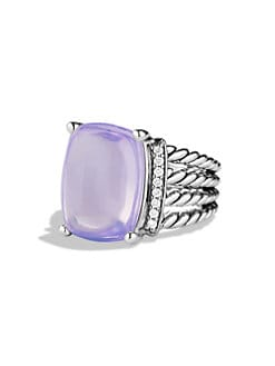 David Yurman - Lavender Moonstone, Diamond & Sterling Silver Ring