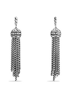 David Yurman - Diamond and Sterling Silver Tassel Earrings