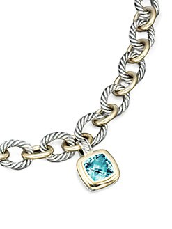 David Yurman - Blue Topaz, 18K Yellow Gold & Sterling Silver  Enhancer