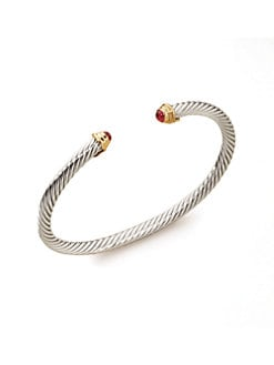 David Yurman - Child's Ruby & Sterling Silver Birthstone Bracelet/July