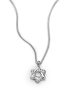 David Yurman - Child's Sterling Silver & 18K Yellow Gold Star of David Necklace