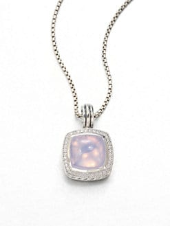 David Yurman - Lavender Moon Quartz, Diamonds & Sterling Silver Enhancer