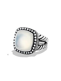 David Yurman - Lavender Moon Quartz, Diamonds & Sterling Silver Ring