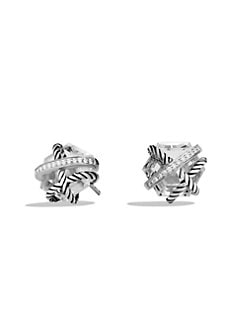 David Yurman - Diamond and Sterling Silver Earrings