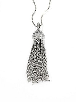 David Yurman - Diamond and Sterling Silver Tassel Enhancer