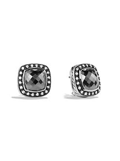 David Yurman - Diamond & Hematite Sterling Silver Earings