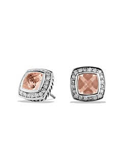 David Yurman - Diamond, Morganite & Sterling Silver Earrings