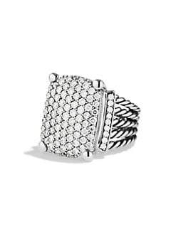 David Yurman - Diamond Pav&#233 & Sterling Silver Ring