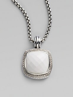 David Yurman - White Agate, Diamond & Sterling Silver Enhancer