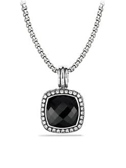 David Yurman - Black Onyx, Diamond & Sterling Silver Enhancer