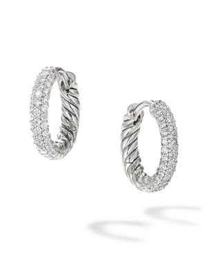 Petite Pavé Earrings with Diamonds