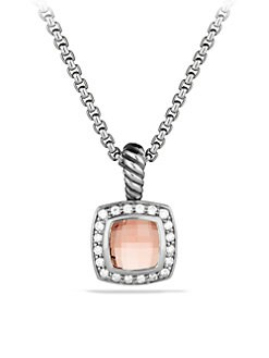 David Yurman - Diamond, Morganite & Sterling Silver Necklace