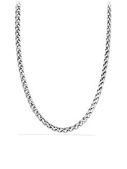 David Yurman - Sterling Silver & 14K Yellow Gold Woven Chain Necklace