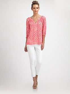 Lilly Pulitzer - Silk Moxy Top