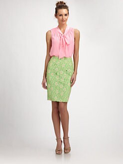 Lilly Pulitzer - Silk Dahlia Top