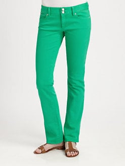 Lilly Pulitzer - Low-Rise Straight-Leg Jeans