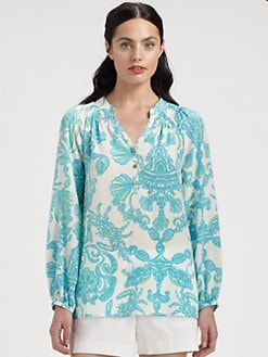 Lilly Pulitzer - Silk Elsa Top