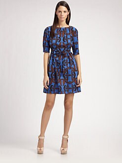 Sophie Theallet - Bird Print Square Neck Dress