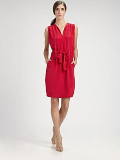 Sophie Theallet - Silk Drawstring Dress