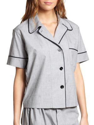 Shelby Cotton Pajama Top by Araks