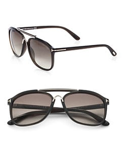 Tom Ford Eyewear - Cade 58mm Round Aviator Sunglasses